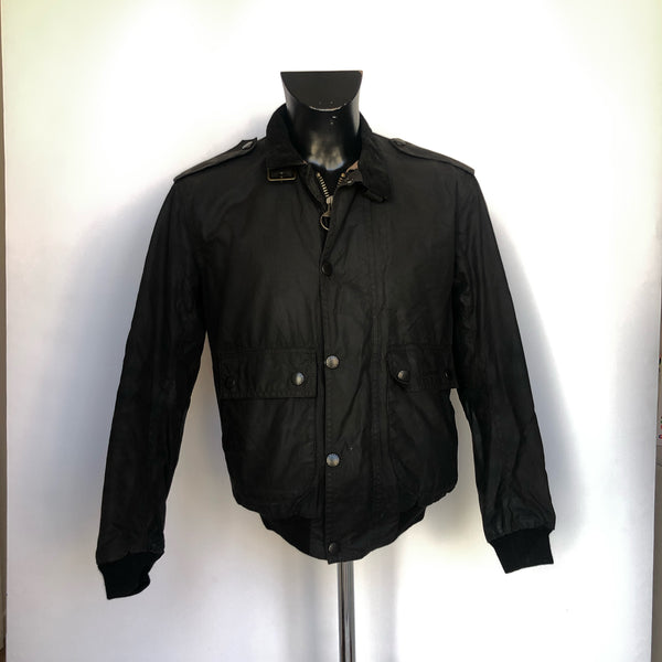 Barbour Wax Flyer Jacket Nero Uomo Tg. Small - Bomber Wax Jacket Bomber Black - Shop in London