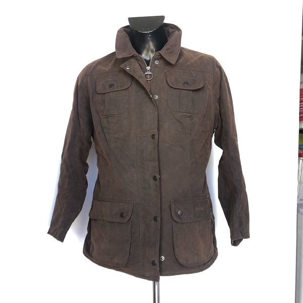 Giacca corta Barbour Trim Jacket Brown UK 14  Medium Perfetta - Lady Wax Jacket - Shop in London