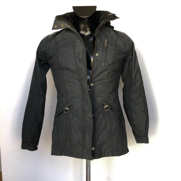 Giacca Barbour Donna Blu con cappuccio UK 8 Tg. Small - Blue Wax Lady Jacket - Shop in London