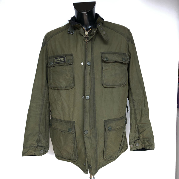 Giacca Barbour International Blackwell Verde Tg. XXL Rare Green Wax Jacket Lined - Shop in London