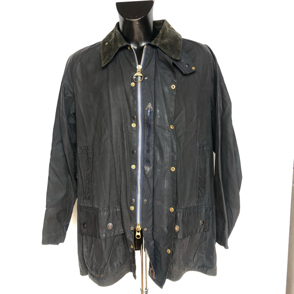Barbour Giacca Beaufort Blu vintage C48/122 cm - Navy Waxed jacket - Shop in London