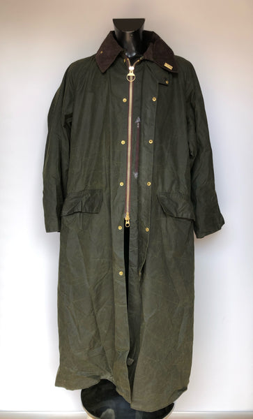 Barbour Burghley UOMO Cerato C46 VERDE - RARE AND VINTAGE WAX EQUESTRIAN JACKET - Shop in London