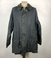Barbour Giacca Vintage Uomo Beaufort blu C44/112 cm Large Navy blue Waxed jacket C44
