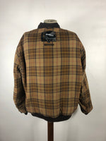 Barbour Wax Flyer Jacket XLARGE Marrone cerato da UOMO- Man Wax Brown Jacket size XL
