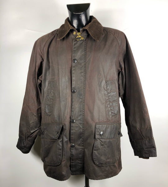 Barbour Giacca Uomo Bedale Marrone C42/107 CM Taglia Medium - Brown Waxed Jacket