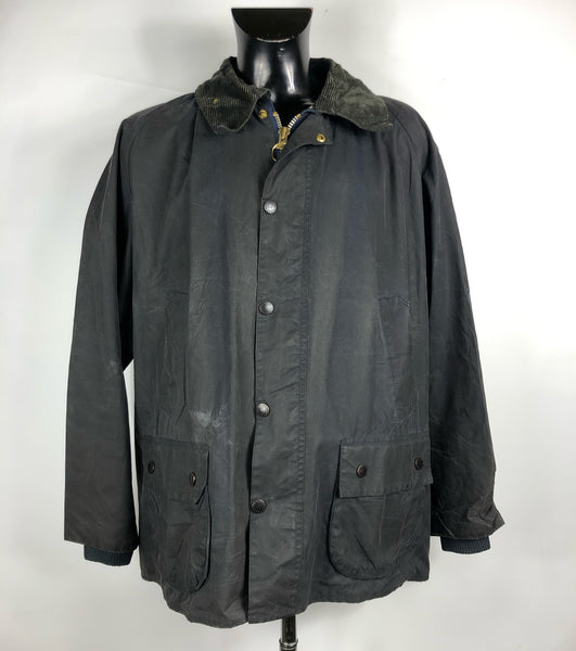 Barbour Giacca Uomo Bedale Blu C52/132 CM XXXL- Navy waxed jacket 3XL 52''