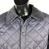 Trapuntino Barbour Blu Liddesdale Small - Quilted Navy Jacket Size Small