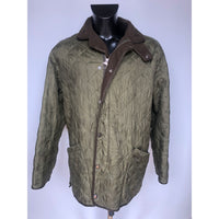 Giacca Barbour trapuntata e imbottita verde XL - Quilted Green Jacket XL