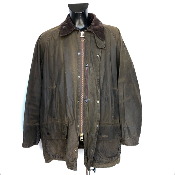 Barbour Giacca Beaufort Verde recente XL C48/122 cm -Green Wax Jacket - Shop in London