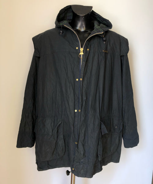 Giacca Barbour Durham con cappuccio NERO C48/122 cm X Large Black Waxed Jacket with hood - Shop in London
