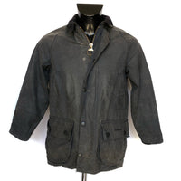 Barbour Beaufort Cerato Nero Children Classic C28 XXSMALL-Black waxed jacket - Shop in London