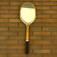 Racchetta da Tennis Vintage Originale in Legno Slazenger con Specchio-Italian Racket Mirror - Shop in London