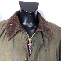 Giacca Barbour Uomo Gamefair Verde Vintage Cerata C44/112cm Large- Green wax jacket - Shop in London