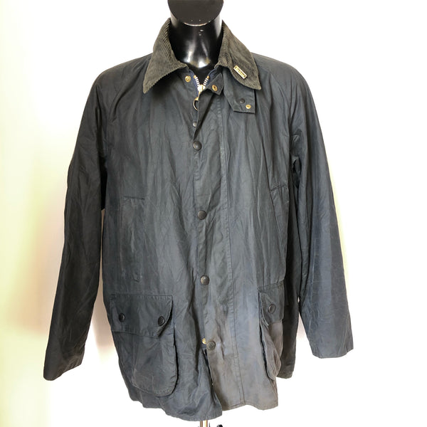Barbour Giacca Uomo Bedale Blu C46/117 CM Tg. L Vintage Navy blue Waxed Jacket - Shop in London