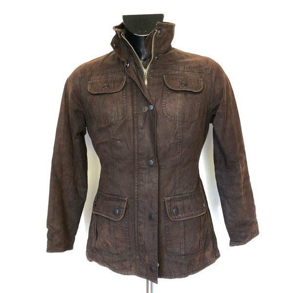 Giacca Marrone Monaco Utility Jacket in alcantara Size UK 8
