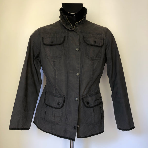 Giacca corta nera Barbour Utility Wax jacket Black - UK12 - Shop in London