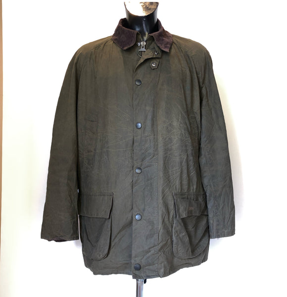 Giacca Barbour da Uomo Verde Taglia XXL cerata e impermeabile- Bristol Green Waxed Jacket - Shop in London