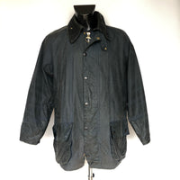 Barbour Beaufort Cerato Uomo Blu C42/107 cm MEDIUM-Navy blue Vintage Wax jacket - Shop in London