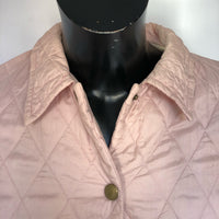 Giacca a vento Barbour da donna Rosa UK 10 Taglia Small - Quilted Pink lady jacket