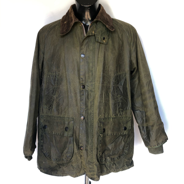 Barbour Giacca Uomo Bedale Verde C42/107 CM Vintage Green Wax Jacket Medium