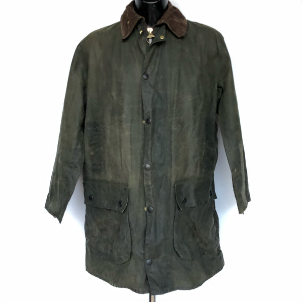 Giacca Barbour Uomo Border verde Vintage Cerata C40/102 cm Taglia Small - Green waxed jacket