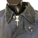 Barbour Giacca Beaufort Blu vintage C44/112 cm Large cerato e impermeabile - Blue waxed Jacket Size Large