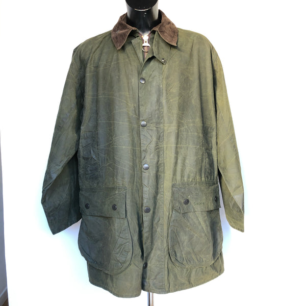Giacca Barbour Uomo Border Verde Vintage Cerata C44/112 cm  Taglia Large - Green waxed jacket