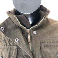 Giacca Barbour corta verde oliva Utility Wax jacket Black - UK10 taglia Small