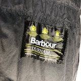 Giacca Barbour rara Durham anni 80 Unlined nero C40/102 cm Small - Black waxed Jacket
