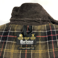 Cappotto Barbour marrone modello Unisex Newmarket Recente UK 14 - Brown Waxed Jacket