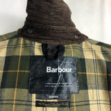 Giacca Barbour Uomo Border Verde Recente Cerata C44/112 cm Taglia Large-Green waxed jacket
