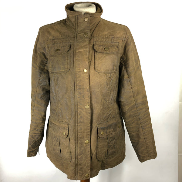 Giacca Barbour Unisex cerata Marrone UK16 - Brown Quilt Utility Jacket UK 16