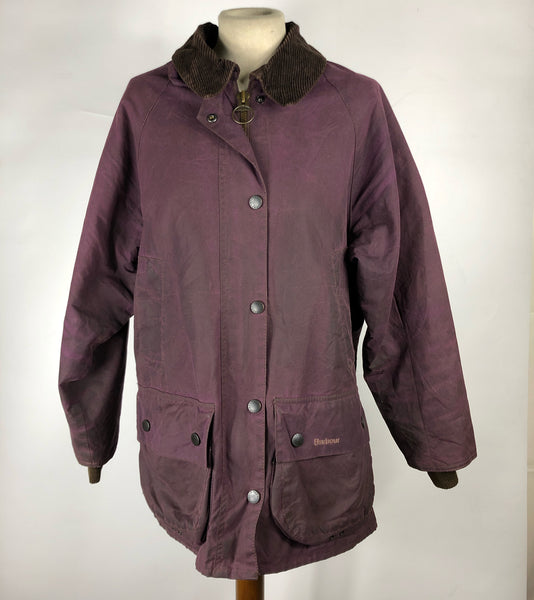 Barbour Giacca Bedale Wax Viola Uk 12 - Waxed Purple Bedale Jacket UK12