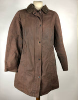 Giacca Barbour unisex marrone Belsay cerata UK 14-Brown waxed jacket Size UK14