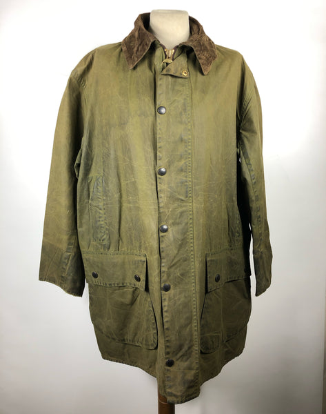 Giacca Barbour Uomo Border Verde Vintage Cerata C42/107 cm Medium-Vintage Green wax jacket