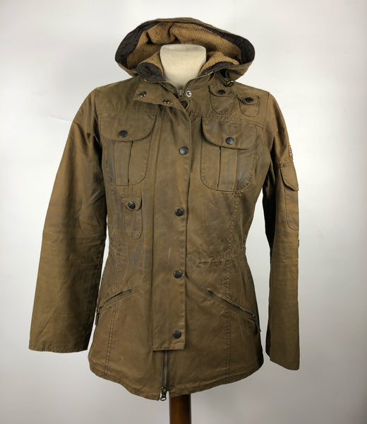 Giacca Barbour Marrone da donna imbottita UK 8 XSmall - Winter Parka wax brown jacket