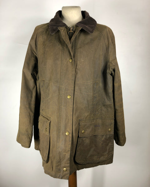 Giacca Barbour unisex verde fango Beadnell Uk 18- Olive waxed Casual Jacket Liberty Beadnell