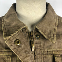 Giacca Barbour primavera marrone corta UK14 in cotone Beige Short Jacket Size M