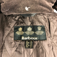 Giacca Barbour cerato marrone con cintura Unisex UK14 -Wax brown Hooded Jacket UK14