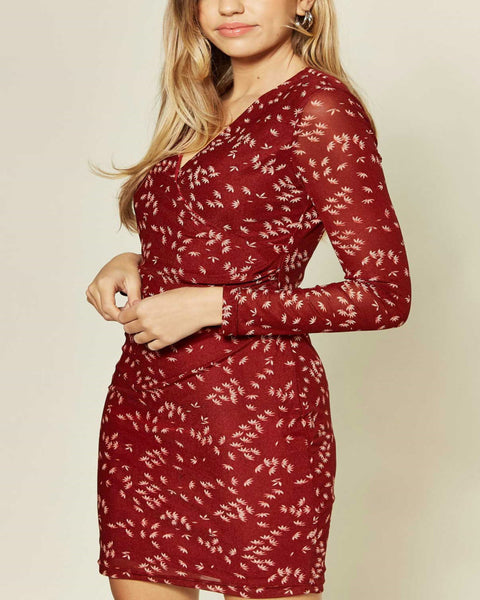 Tubino Nuovo Pizzo Maniche Lunghe Varie Misure New Lace Red Bodycon dress - Shop in London