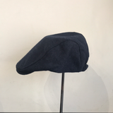 Coppola nuova inglese blu notte in lana disponibile in due misure - English New Flat Cap