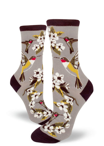 Hummingbird Women's Crew Socks
