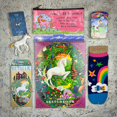 Contents of the Unicorn Joy Box