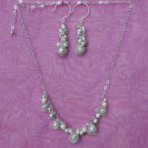 Fancy silver pearls
