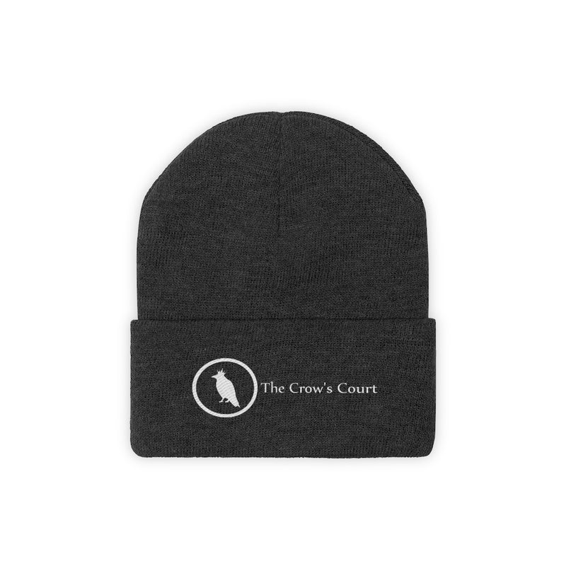 Logo Knit Beanie - The Crow's Court