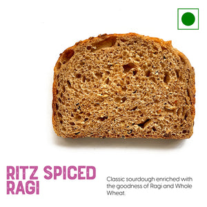 Ragi, whole wheat with aromatic spices sliced sandwich bread | Buy Breads online