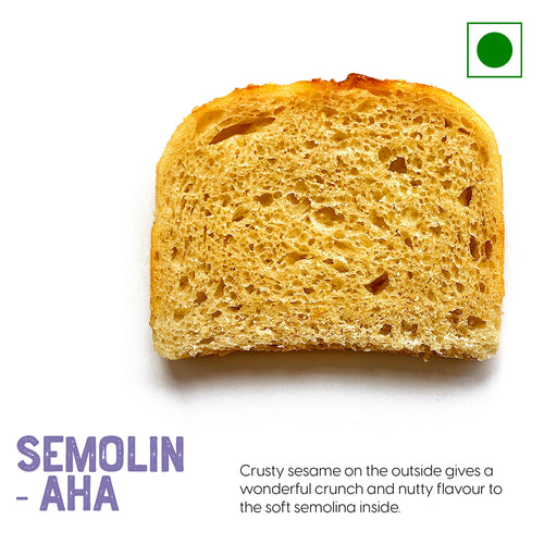 Samolin bread has a wonderfully crunchy texture and nutty flavor to the soft semolina inside | Buy Sourdough Breads online