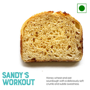 A Honey wheat and oats sliced sandwich | Buy Sourdough Breads online
