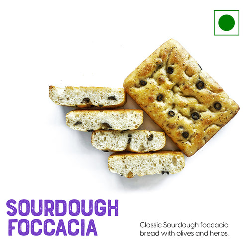 Classic sourdough Foccacia bread with olives and herbs | Buy Sourdough Breads online