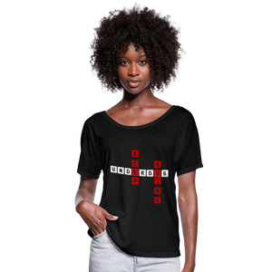 Women's Flowy T-Shirt - black